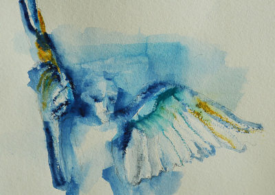 BLUE ANGEL, Derwent art bar on paper