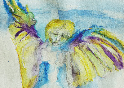 ANGEL GOLD, Derwent art bar on paper
