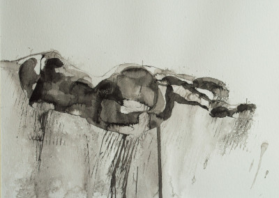SHADOWS, India ink on paper