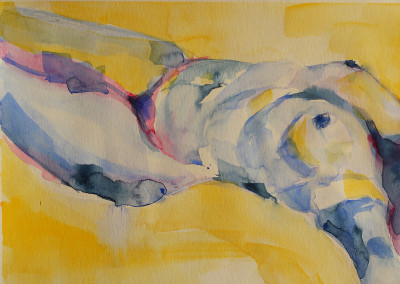 YELLOW, watercolor on paper