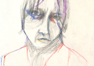 THE POET 4, pencil and pastel on paper