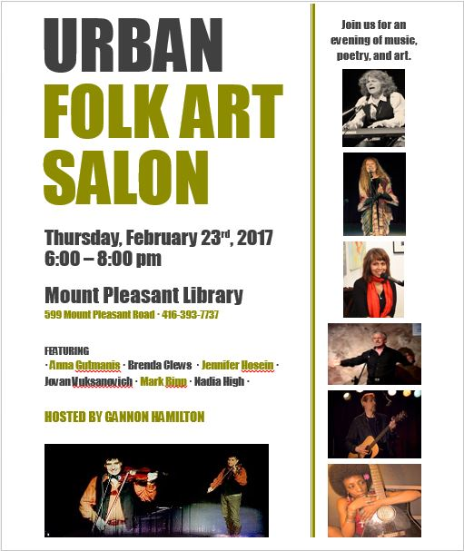 Urban Folk Art Salon, Mount Pleasant Library