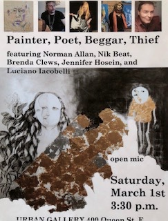 Painter, Poet, Beggar, Thief at Urban Gallery, March, 2014